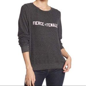 Wildfox fierce female sweatshirt top NWT medium